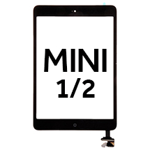 Digitizer & IC Connector (With Adhesive & Home Button) for Apple iPad Mini & Mini 2 (Black)