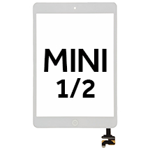 Digitizer & IC Connector (Pre-Soldered with Adhesive & Resistors) for Apple iPad Mini (White)