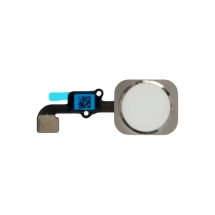 Home Button Assembly for Apple iPhone 6 (White with Silver Ring)