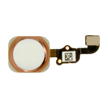 Home Button Assembly for Apple iPhone 6S (CDMA & GSM) (White with Rose Gold Ring)