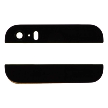 Door Glass (Top & Bottom) for Apple iPhone 5S (CDMA & GSM) (Black)