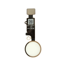 Home Button Assembly for Apple iPhone 7 (White with Gold Ring)