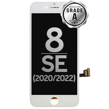 LCD, Digitizer & Frame Assembly for Apple iPhone 8 (CDMA & GSM) (White) (Grade A)