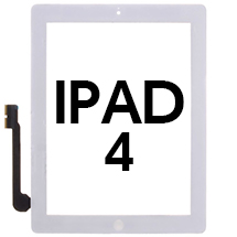 Digitizer & Home Button Assembly for Apple iPad 4 (White) (Premium)