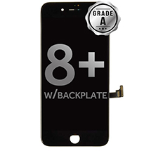 LCD, Digitizer & Frame Assembly for Apple iPhone 8 Plus (Black) (Grade A with Backplate)