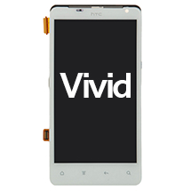 LCD, Digitizer & Frame Assembly for HTC Vivid (White) (Closeout)