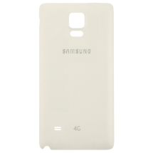 Housing (Back) for Samsung Galaxy Note 4 (White with 4G Logo) (OEM) (Closeout)