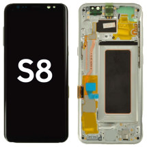 OLED, Digitizer & Frame Assembly for Samsung Galaxy S8 (Silver) (Aftermarket)