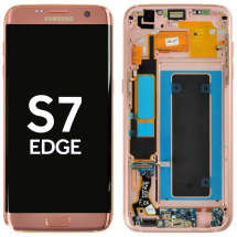 OLED, Digitizer & Frame Assembly for Samsung G935F Galaxy S7 Edge (International) (Pink Gold) (OEM) (Closeout)