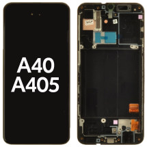 OLED, Digitizer & Frame Assembly for Samsung A40 (A405) (Black) (OEM)