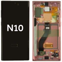OLED, Digitizer & Frame Assembly for Samsung Galaxy Note 10 (Aura Pink) (OEM)