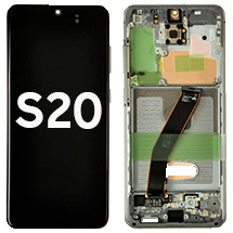 OLED, Digitizer, & Frame Assembly for Samsung Galaxy S20 (G980/G981) (Cosmic Gray) (OEM)