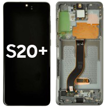 OLED, Digitizer & Frame Assembly for Samsung Galaxy S20+ (Gray) (Aftermarket)