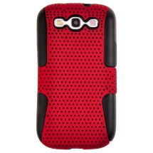 Mesh Hybrid Mesh Case for Samsung Galaxy S III (Red & Black) (Closeout)