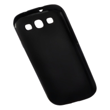 Gummy Cover for Samsung Galaxy S III (Solid Black) (Closeout)