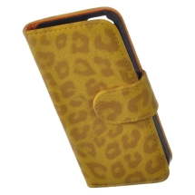 Wallet Pouch for Apple iPhone 5 (Gold Leopard) (Closeout)