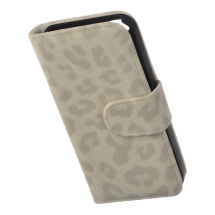 Wallet Pouch for Apple iPhone 5 (Cream Leopard) (Closeout)