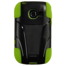 Hybrid Case with Stand for Samsung R480 Freeform 5 (Black & Neon Green) (Closeout)