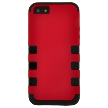 TUFF Hybrid Case for Apple iPhone 5, 5S (Red) (Closeout)