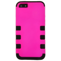 MYBAT TUFF Hybrid Case for Apple iPhone 5 & 5S (Hot Pink & Black) (Closeout)