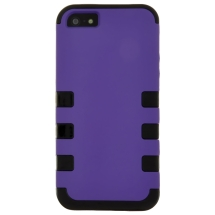 MYBAT TUFF Hybrid Case for Apple iPhone 5 & 5S (Purple & Black) (Closeout)