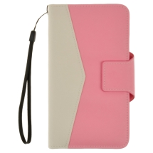 Wallet Pouch for Samsung N9005 Galaxy Note 3 (Fancy Baby Pink & White) (Closeout)
