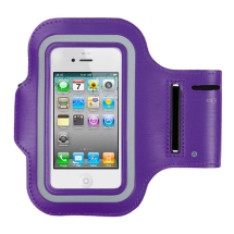 Universal Vertical Adjustable Sport Armband Pouch (Purple) (Closeout)