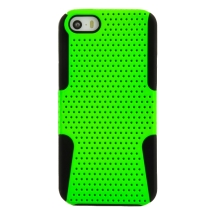 Hybrid Mesh Case for Apple iPhone 5, 5S (Lime Green & Black) (Closeout)