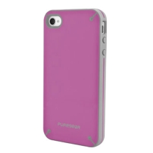 PureGear Slim Shell Case for Apple iPhone 4,4S (Raspberry) (Closeout)