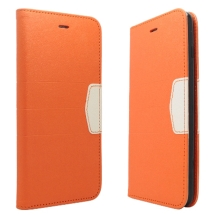 Wallet Pouch for Apple iPhone 6 Plus (Orange with White Tab) (Closeout)
