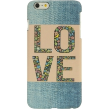 Candy Skin for Apple iPhone 6 Plus (Faded Blue Jeans Love Patch) (Closeout)