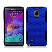 Mesh Case for Samsung Galaxy Note 4 Hybrid (Blue & Black) (Closeout)