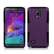 Hybrid Mesh Case for Samsung Galaxy Note 4 (Purple & Black) (Closeout)