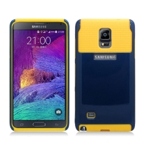 Hybrid 2 Tone Case for Samsung Galaxy Note 4 (Navy Blue & Yellow) (Closeout)
