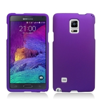 Rubberized Shield for Samsung Galaxy Note 4 (Purple) (Closeout)