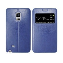 S-View Flip Cover for Samsung Galaxy Note Edge (OEM) (Blue) (Closeout)