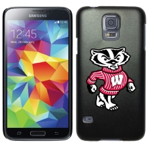 NCAA Licensed Shield for Samsung Galaxy S5 (Wisconsin Badgers Mascot) (Closeout)