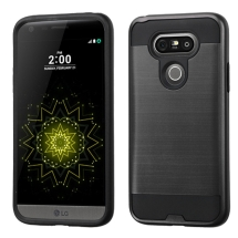 Brushed 2 Piece Hybrid Case for LG G5 (Black & Black) (Closeout)