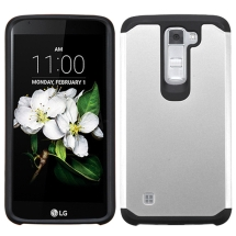 Advanced Armor Case for LG K8, K7 (Silver & Black) (Closeout)