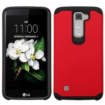 Advanced Armor Case for LG K8, K7 (Red & Black) (Closeout)