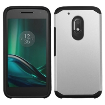 Advanced Armor Case for Motorola Moto G Play (Silver & Black)