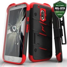 Play Bolt Case with Stand for Motorola Moto G Play (Black & Red)