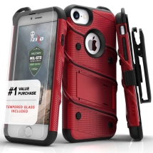 Bolt Case w/ Stand for Apple iPhone 7, 6S (Red & Black)