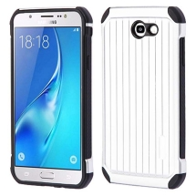 Advanced Armor Suitcase for Samsung Galaxy J7 (2017) (Silver & Black) (Closeout)