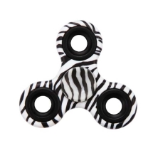 Triangle Fidget Spinner (Black Zebra Skin)