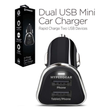 Naztech HyperGear High-Power 3.4 Amp Dual USB Car Charger (Black)
