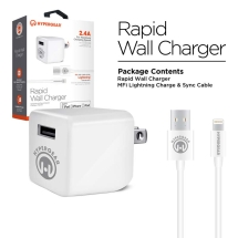 Naztech HyperGear 2.4 Amp Rapid Wall Charger & Lightning Cable (White)