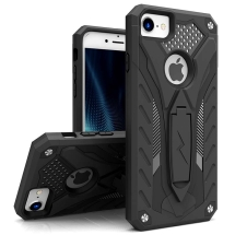 Zizo Static Dual Hybrid Case for Apple iPhone 6, 6S, 7, & 8 (Black & Black)