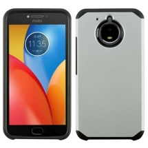 Advanced Armor Case for Motorola Moto E4 Plus (Silver & Black) (Closeout)