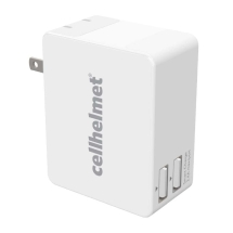 Cellhelmet 2.5 Amp Smart Wall Charger with 2 USB Ports (White)